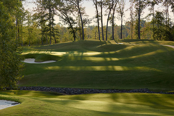 The approach at number five, The Club at Stoney Creek